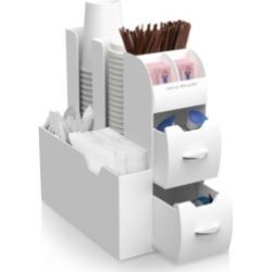 Mind Reader 2-Piece K-Cup Single Serve Coffee Pod Storage Drawer and Condiment Storage Organizer Station
