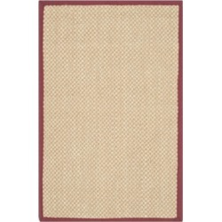 Safavieh Natural Fiber Maize and Burgundy 2' x 3' Sisal Weave Rug found on Bargain Bro Philippines from Macy's for $28.80