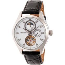 Heritor Automatic Sebastian Silver Leather Watches 40mm found on Bargain Bro India from Macy's Australia for $277.29