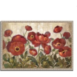 Tangletown Fine Art Daydreaming Flowers by Silvia Vassileva Fine Art Giclee Print on Gallery Wrap Canvas, 32
