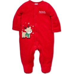 Little Me Baby Boys Reindeer Footed Velour Coverall found on Bargain Bro Philippines from Macys CA for $35.81