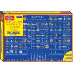 T.s. Shure Schematics of World Architecture 500 Piece Jigsaw Puzzle