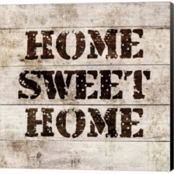 Home Sweet Home In Wood by Color Me Happy Canvas Art