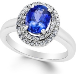 Tanzanite (1-1/2 ct. t.w.) and Diamond (1/3 ct. t.w.) Ring in 14k White Gold found on Bargain Bro India from Macy's Australia for $3214.22