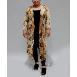 Coin 1804 Women's Plus Size Tie Dye 3/4 Sleeve Hoodie Duster found on MODAPINS from Macy's for USD $40.00