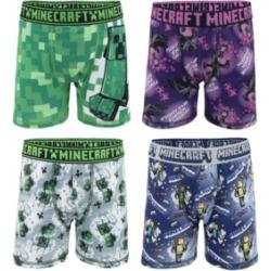 Minecraft Big Boys Athletic Boxer Briefs, Set of 4