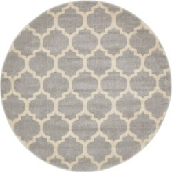 Bridgeport Home Arbor Arb1 Light Gray 6' x 6' Round Area Rug found on Bargain Bro India from Macy's for $194.00