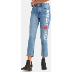 Lucky Brand Bridgette Message-Applique Cropped Jeans found on MODAPINS from Macy's for USD $95.99