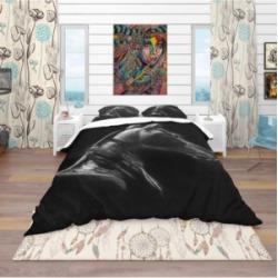 Designart 'Horse In Black Background' Southwestern Duvet Cover Set - King Bedding found on Bargain Bro India from Macy's for $194.99