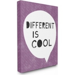 """Stupell Industries Different is Cool Word Bubble Canvas Wall Art, 24"""" x 30"""""""