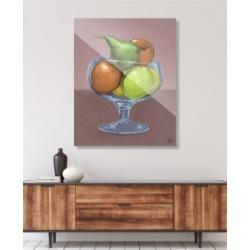 "Creative Gallery Fruit Still Life on Brown Illustration 24"" x 36"" Acrylic Wall Art Print"