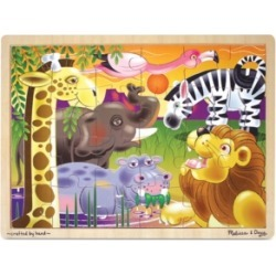 Melissa and Doug Kids Toy, African Plains 24-Piece Jigsaw Puzzle