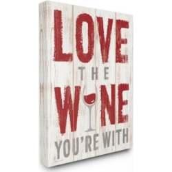 """Stupell Industries Love The Wine You'Re With Canvas Wall Art, 24"""" x 30"""""""