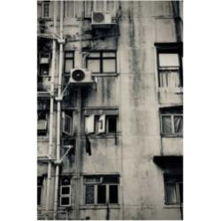 "American School Hong Kong Building Black and White Canvas Art - 37"" x 49"""