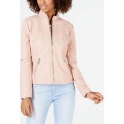 Guess Quilted Faux-Leather Moto Jacket found on MODAPINS from Macy's for USD $109.99