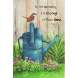 "Melinda Hipsher 'Wren Water Can, Psalm' Canvas Art - 16"" x 24"""