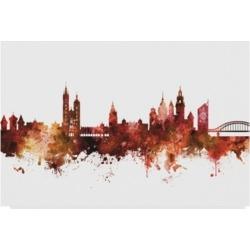 Michael Tompsett Krakow Poland Skyline Red Canvas Art - 37