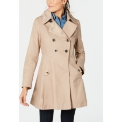 Via Spiga Hooded Skirted Water Resistant Trench Coat found on MODAPINS from Macy's for USD $119.99