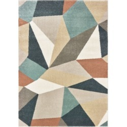 Oriental Weavers Carson 9659B Blue/Orange 2' x 3' Area Rug found on Bargain Bro India from Macy's for $49.00