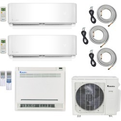 3-Zone Klimaire 22 SEER Multi-Zone Mini-Split 3-Room Air Conditioner Heat Pump System 9+9+18 with 15 ft. & 25 ft. Installation Kit - Heat and Cool found on Bargain Bro from HeatAndCool.com for USD $2,128.00
