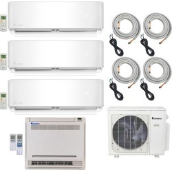 4-Zone Klimaire 22.5 SEER Multi-Zone Mini-Split 4-Room Air Conditioner Heat Pump System 9+9+9+18 with 25 ft. Installation Kit - Heat and Cool found on Bargain Bro from HeatAndCool.com for USD $2,864.44