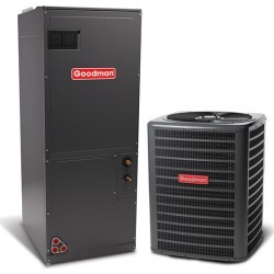 2.5 Ton A/C Goodman GSZ140301 15 Seer Central Air Conditioner Heat Pump Multi-Position System - Heat and Cool