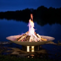Fire Pit Art Bella Vita 70 Inch Wood Burning Fire Pit - Heat and Cool