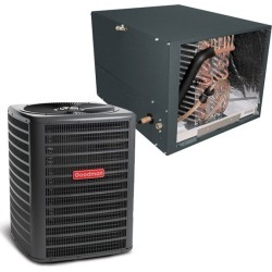 4 Ton Goodman 14.5 SEER Condenser GSX160481 and Cased Coil CHPF4860D6 Horizontal System with TXV by Heat and Cool found on Bargain Bro India from HeatAndCool.com for $2116.00