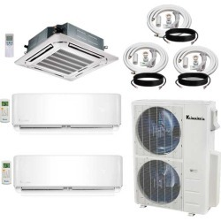 3 Zone Klimaire 21.5 SEER Multi-Zone Mini-Split Inverter 3-Room Air Conditioner Heat Pump System 9+24+24 with 25 ft. Installation Kit - Heat and Cool found on Bargain Bro from HeatAndCool.com for USD $3,353.12