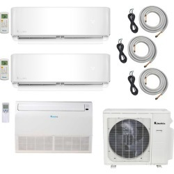 3-Zone Klimaire 22.5 SEER Multi-Zone Mini-Split 3-Room Air Conditioner Heat Pump System 9+9+18 with 25 ft. Installation Kit - Heat and Cool found on Bargain Bro from HeatAndCool.com for USD $2,714.72