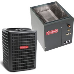 4 Ton Goodman 14.5 SEER Condenser GSX160481 and Cased Coil CAPF4961D6 Upflow/Downflow System with TXV by Heat and Cool found on Bargain Bro India from HeatAndCool.com for $2132.00