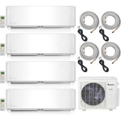 4-Zone Klimaire 22.5 SEER Multi-Zone Mini-Split 4-Room Air Conditioner Heat Pump System 9+9+9+9 with 25 ft. Installation Kit - Heat and Cool found on Bargain Bro from HeatAndCool.com for USD $2,810.62