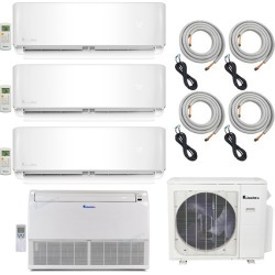 4-Zone Klimaire 22.5 SEER Multi-Zone Mini-Split 4-Room Air Conditioner Heat Pump System 9+9+9+18 with 25 ft. Installation Kit - Heat and Cool found on Bargain Bro from HeatAndCool.com for USD $3,022.52