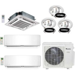 3-Zone Klimaire 22 SEER Multi-Zone Mini-Split 3-Room Air Conditioner Heat Pump System 9+9+18 with 15 ft. & 25 ft. Installation Kit - Heat and Cool found on Bargain Bro from HeatAndCool.com for USD $2,352.96