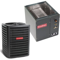 5 Ton Goodman 14.5 SEER Condenser GSX160601 and Cased Coil CAPF4860C6 Upflow/Downflow System with TXV by Heat and Cool found on Bargain Bro India from HeatAndCool.com for $2548.00