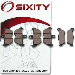 Sixity Front + Rear Ceramic Brake Pads 1996 BMW R850R ABS Spoke wheel