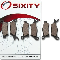 Sixity Front + Rear Organic Brake Pads 2013 Can-Am Outlander 1000 EFI DPS found on Bargain Bro India from Sixity for $19.88