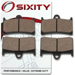Sixity Front Organic Brake Pads 2007-2010 Yamaha XV1700AT Road Star Silverado found on Bargain Bro Philippines from Sixity for $10.58