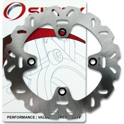 Sixity Rotor MD6345 Rear Replacement Kit