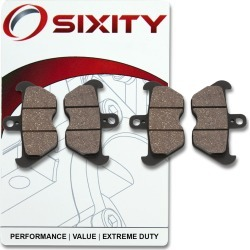 Sixity Front Organic Brake Pads 1996 BMW R850R ABS Spoke wheel