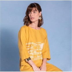Blusa Amber Dufy Cor: Amarelo - Tamanho: PP found on Bargain Bro from Souq Store for USD $92.92