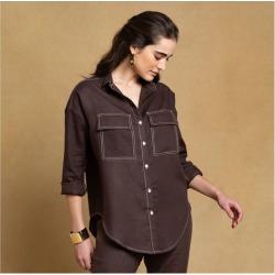 Camisa Caribé-Hopper Cor: Marrom - Tamanho: M found on Bargain Bro India from Souq Store for $110.03