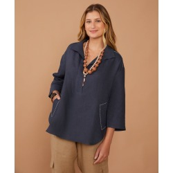 Camisa Marcela Cor: Azul Marinho - Tamanho: PP found on Bargain Bro India from Souq Store for $318.01