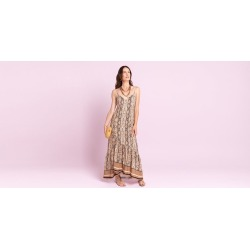 Vestido Nely Cor: Bege - Tamanho: 1 found on Bargain Bro India from Souq Store for $117.41