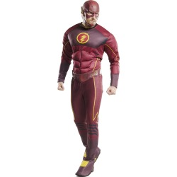 Adult Muscle Flash One Piece Costume - DC Comics - Size STANDARD ADULT - by Spencer's