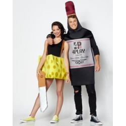 Adult Wine and Cheese Couples Costume - ONE SIZE FITS MOST - by Spencer's