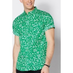 St. Patrick's Day Button Down Shirt - Size Adult Small - by Spencer's
