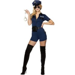 Adult Police Officer Romper Costume - Size ADULT SMALL - by Spencer's found on Bargain Bro India from spencers gifts for $44.99