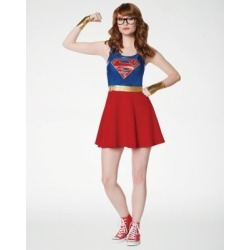 Supergirl Dress Kit - DC Comics - Size Adult XL - by Spencer's