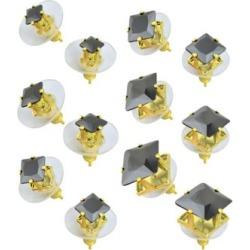 Square Stud Earrings 6 Pair - 20 Gauge by Spencer's